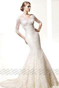 マーメイド ウェディングドレス ブラシトレーン オフショルダー ホワイト 005870001001