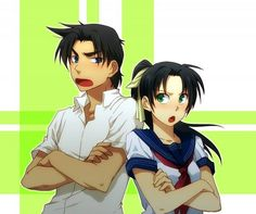 --Heiji and Kazuha-- Anime Couples, Cute Couples, Heiji Hattori, Manga Detective Conan, Detektif Conan, Gosho Aoyama, Wattpad Stories, Case Closed, Magic Kaito