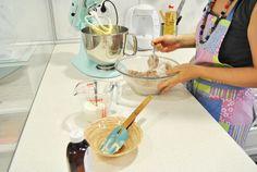 Deconstrucción de cupcake. Receta de cupcakes red velvet en Con Un Poco De Azúcar