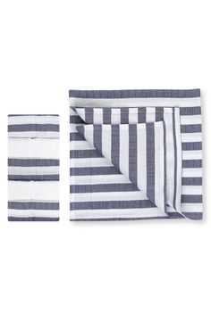 5er-Pack gestreifte Mulltücher aus reiner Baumwolle