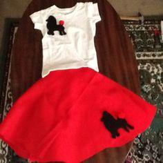 Kids 50s Costume Diy No Sew Poodle Skirt