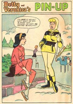 Look at the lining of Veronica's skating skirt! (Also the chain on her sweater.) | 31 Totally Wearable Vintage Archie Comics Looks For Girls