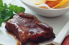 American-style sticky beef ribs! yummy!