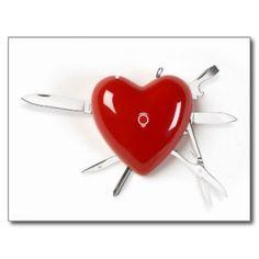 Coeur suisse d'armée cartes postales