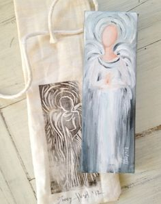 Faceless Angel Painting By Tracy Host by Tracyhostfineart on Etsy, $35.00