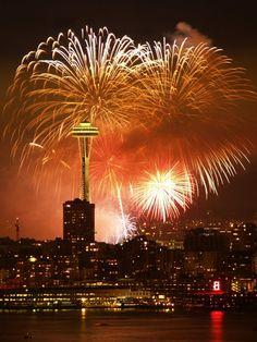 Seattle Space Needle on NYE Monday-Thursday 10:00-11:00 Friday 9:30-11:30 365 days
