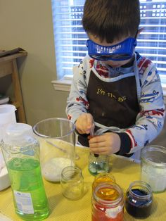 Pretend Play Science Activity - Mad Scientist Lab