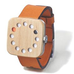 Grovemade wood watch Maple Leather Simplicity