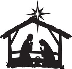 Nativity Scene Silhouette | nativity silhouettes