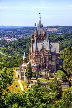 castle in Drachenburg, Germany