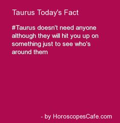 Taurus Daily Fun Fact