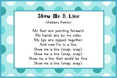 Line up song that's pretty cute for younger kids (even if they don't get the song reference)