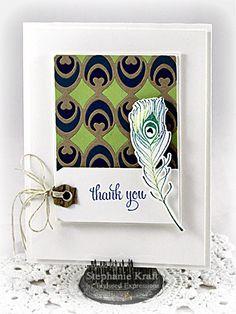 Thank You Card by Stephanie Kraft #Cardmaking. #ThankYou, #CuttingPlates