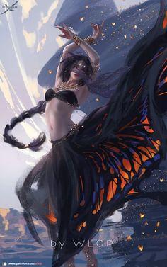 WLOP is creating Comic, Illustrations, animation Dark Fantasy Art, Fantasy Girl, Fantasy Artwork, Fantasy Kunst, Chica Fantasy, Fantasy Women, Anime Fantasy, Fantasy Rpg, Fantasy Books