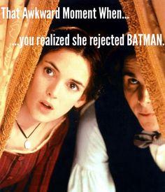 That awkward moment when... #LittleWomen #Batman #funny