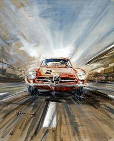 Illustration/Painting/Drawing inspiration #alfa #alfaromeo #italiancars @automobiliahq