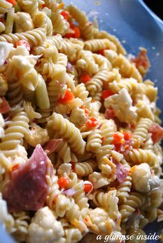 A Glimpse Inside: Tasty Tuesday- Pasta Salad