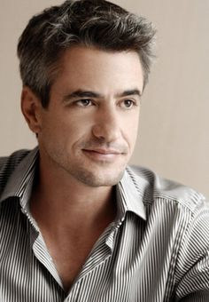Dermot Mulroney. He's the perfect ratio of salt & pepper hair! And I love the little in-between smirk!