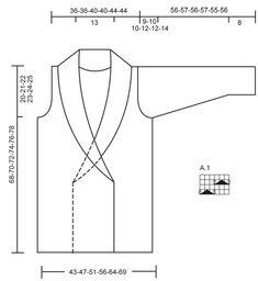 """DROPS Extra 0-852 - Casaco com ajours DROPS com gola xaile, em """"Symphony"""". Do S ao XXXL. - Free pattern by DROPS Design"""