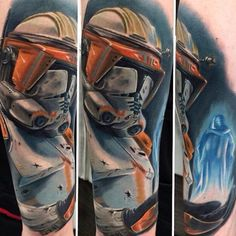 Stormtrooper tattoo by Vic Vivid