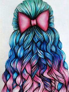 Trendy Drawing Hair Girl Bilder Ideen – Meine Pinnwand – Trendy Drawing Hair Girl Pictures Ideas – My Wall – Pretty Drawings, Amazing Drawings, Beautiful Drawings, Art Drawings Sketches, Cool Drawings, Amazing Art, Hair Drawings, Beautiful Images, Girl Hair Drawing