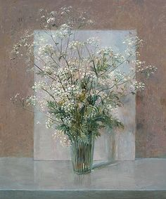 Still Life with Cow Parsley by Rein Pol. Oil on masonite. Digital Museum, Queen Annes Lace, Dutch Painters, Collaborative Art, Bunch Of Flowers, Abstract Flowers, Botanical Art, Flower Art, Art Flowers