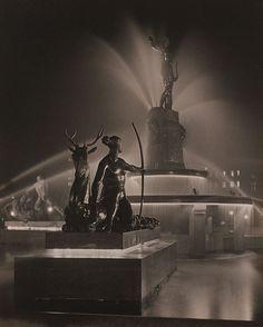 Harold Cazneaux (New Zealand, Australia 1878–1953)  Diana (Archibald Fountain at night)  1933  gelatin silver photograph