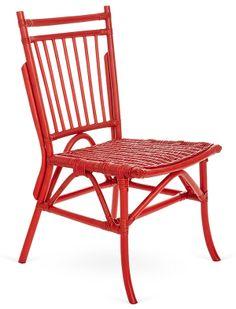 One Kings Lane - Seating in All Styles - Oliver Dining Chair, Red