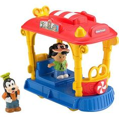 Fisher Price Little People Disney Jolly Trolley with Goofy