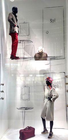 Hermés Dubai, room 201 and 301, upstairs/downstairs, pinned by Ton van der Veer