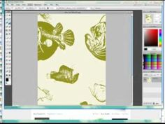 How to use the free software Sumo Paint to create our own fabric design for Spoonflower
