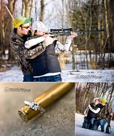 Engagement pic...with GUNS! Somehow I think this will be appreciated. Lol