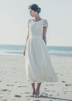 Wanneer je niet van een standaard trouwjurk houdt, maar meer van dromerige, vintage feel ontwerpen zijn de jurken van Laure de Sagazan misschien wel iets ...