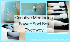 Organizing Made Fun giveaway - I need a power sorter!