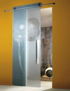 Puertas correderas de cristal estampadas y modernas - Maydisa puertas correderas ...