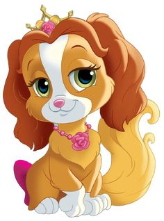 Collection of princess dog cliparts . Disney Babys, Cute Disney, Baby Disney, Kids Cartoon Characters, Cute Characters, Cute Cartoon Pictures, Cartoon Pics, Princess Palace Pets, Disney Princess Colors
