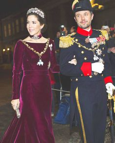 royalwatcher:  Crown Princess Mary and Crown Prince Frederick attend the New Year's Reception, January 1, 2014.