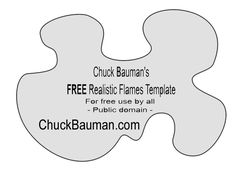 FREE REALISTIC Fire Flames Stencil Template-1