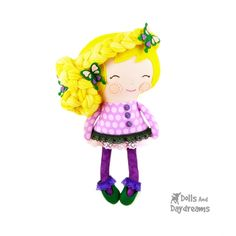 Dolls And Daydreams / Rapunzel Sewing Pattern
