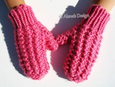 Knitting Pattern 178 Children's Mittens in four sizes Mitten Pattern Toddler Mittens Girl's Boys Mittens Knitting Glove Pattern Kids Mittens