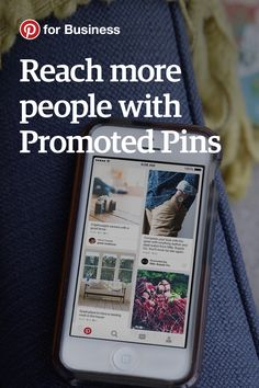 Want more people to see your Pins? Start advertising on Pinterest with Promoted Pins.