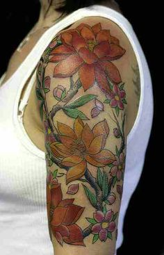 Something similar but different flowers (mine, Richs and Amelias birth flower)