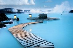 Iceland's Blue Lagoon is an Incredible Hot Spring Spouting fro...