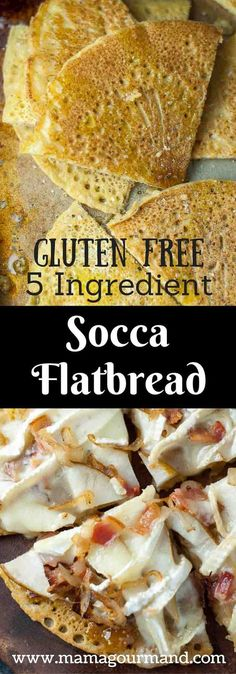 Socca chickpea flatbread is a naturally gluten free, vegan bread recipe that can be used for a great tasting gluten free pizza crust. http://www.mamagourmand.com via @mamagourmand
