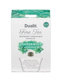Dualit NX Fine Tea Capsule – Peppermint Infusion A Soothing & Uplifting Infusion This pure Peppermint Infusion is a taste revolution that is both soothing & uplifting, with unparalleled freshness. A classic digestif, known for its revitalising benefits. Nespresso, Peppermint, Revolution, Brewing, Pure Products, Tea, Coffee, Classic, High Tea