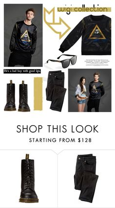 """Bad Boy/Wigi Collection"" by helenevlacho ❤ liked on Polyvore featuring Dr. Martens, Wrap and wigicollection"