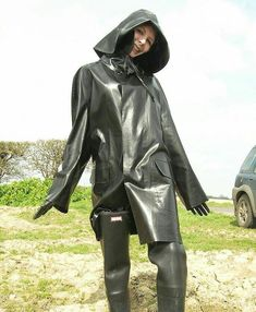 looks like a nice rubber raincoat Red Raincoat, Plastic Raincoat, Heavy Rubber, Black Rubber, Firefighter Boots, Latex Wear, Rubber Raincoats, Rain Gear, Weather Wear