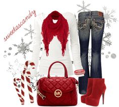 """""""CandyCane Red..."""" by sweetlikecandycane ❤ liked on Polyvore"""