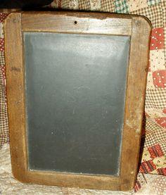 The Gatherings Antique Vintage - Antique 1800s Children Primitive  Wooden Frame School Writing Slate Board, $55.00 (http://store.the-gatherings-antique-vintage.net/antique-1800s-children-primitive-wooden-frame-school-writing-slate-board/)