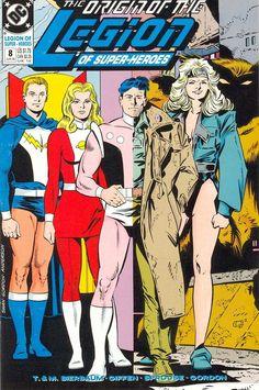 Legion of Super-Heroes (v4) #8 - cover by Curt Swan, Keith Giffen & Al Gordon